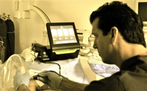 Dr. Timothy Davis demonstrating the Tenex Procedure during a Cadaver Course at Broadway Surgical Institute