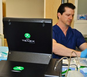 Dr. Davis showing local physicians the Tenex Procedure at Broadway Surgical Institute